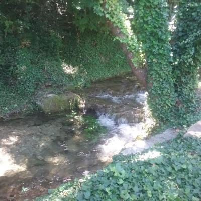 Barranco con pequeña cascada